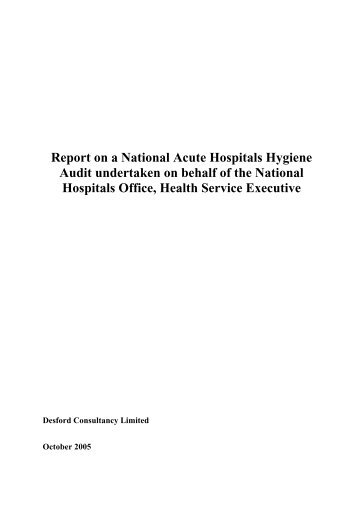 Report on the 1st National Acute Hospital Hygiene Audit
