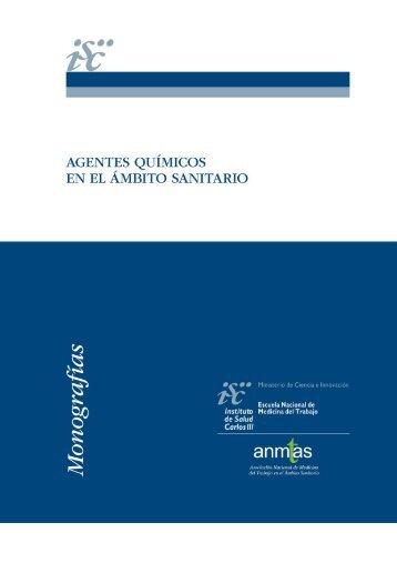 Agentes químicos en al ámbito sanitario - Instituto de Salud Carlos III