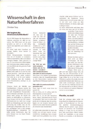 Wissenschaft in den Naturheilverfahren - Dr. Christian Torp