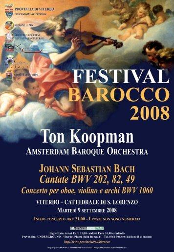 Amsterdam Baroque Orchestra - Provincia di Viterbo