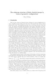 The subgroup structure of finite classical groups in terms ... - CiteSeerX
