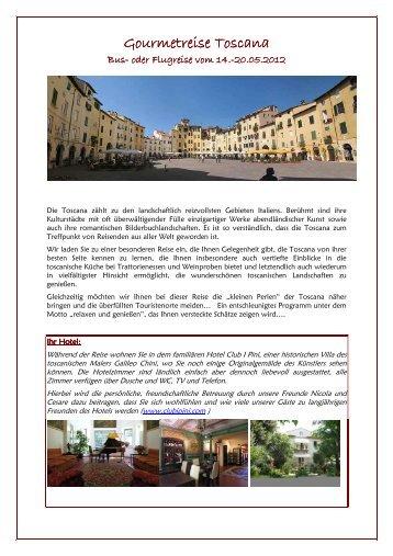 Gourmetreise Toscana