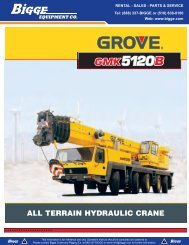 Grove GMK5120 Crane Chart