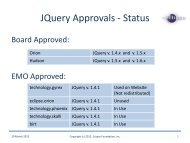 JQuery Approvals - Status - Eclipse