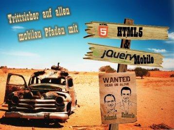 Trittsicher auf allen mobilen Pfaden mit HTML5 und jQuery mobile