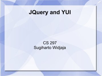 JQuery and YUI