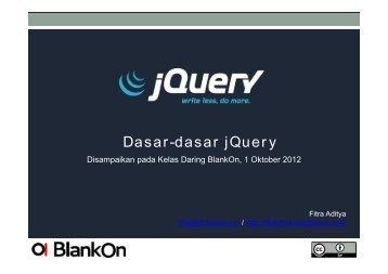 Dasar-dasar jQuery