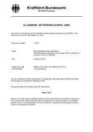 Kraftfahrt-Bundesamt - Pirelli EcoTechnology