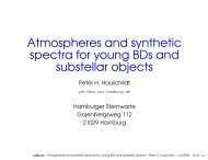 Atmospheres and synthetic spectra for young brown dwarfs and ...