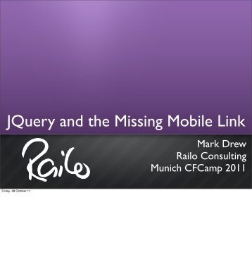 JQuery and the Missing Mobile Link - Mark Drew