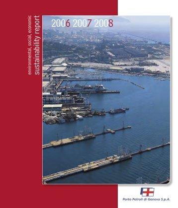 Sustainability Report 2006–2008 of the company Porto Petroli - Eni