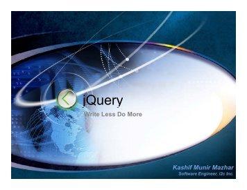 jQuery - PUCIT | ACM Student Chapter