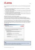 Avira Professional Security Howto - Page 7