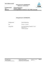 TÜV Kraftfahrt GmbH Teilegutachten Nr. 92TG0024-001 ... - Webkat