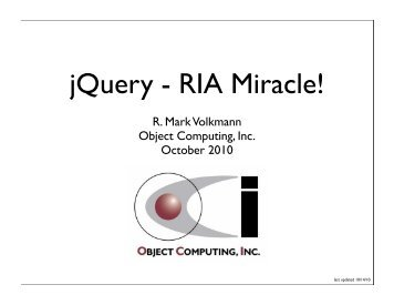 jQuery - RIA Miracle! - Strange Loop 2010