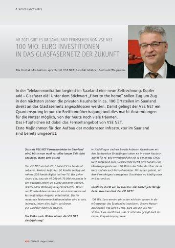 100 mIo. euro INVesTITIoNeN IN dAs ... - VSE Net GmbH