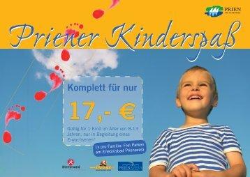 Familien-Erlebniskarte & Priener Kinderspaß - Tourismus Prien ...