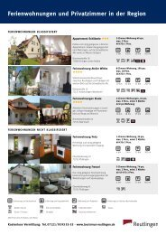 Ferienwohnungen und Privatzimmer in der Region - Tourismus ...