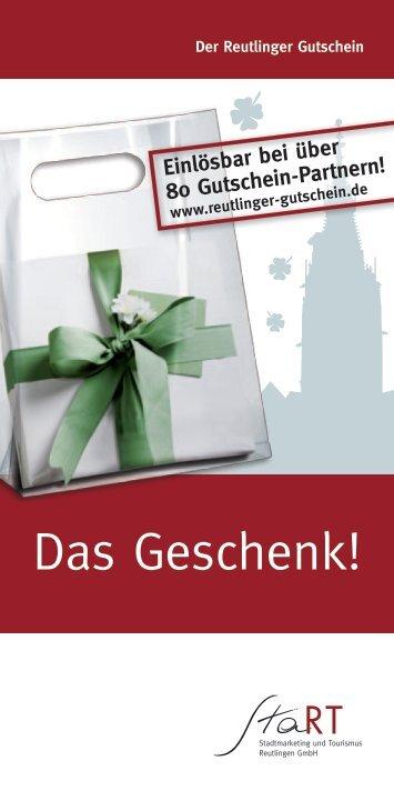Das Geschenk! - Tourismus Reutlingen
