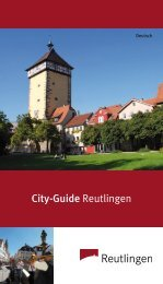 City-Guide Reutlingen - Tourismus Reutlingen