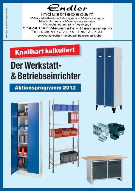 Betriebseinrichtung Aktion 2012 - Endler Industriebedarf