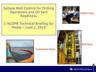 Subsea Well Control for Drilling Operations and Oil Spill Readiness ...