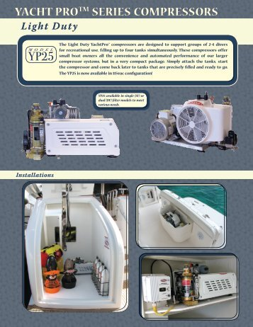 Yacht Pro™ 25 Compressor Tearsheet - Brownie's Marine Group
