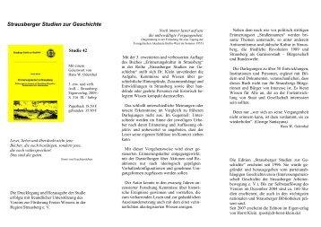 Strausberger Studien zur Geschichte - von Dr. Horst Klein