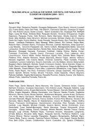 Elenco completo dei partecipanti alle edizioni dal 2004 al 2011