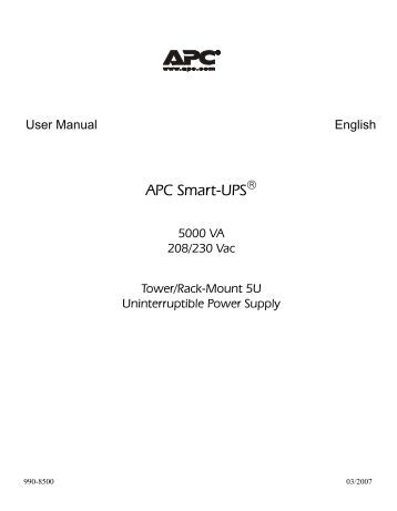 Apc Pro 1000 manual