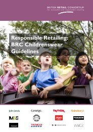 Responsible Retailing: BRC Childrenswear Guidelines