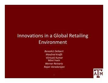 Innovations in a Global Retailing Environment