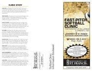 FAST-PITCH SOFTBALL CLINIC - University of St. Francis Athletics