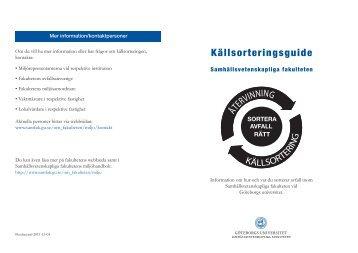 Källsorteringsguide - Göteborgs universitet