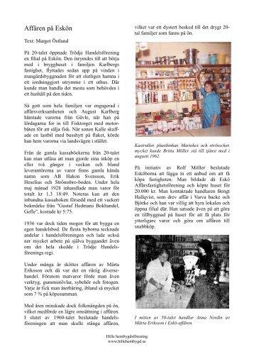 Affären på Eskön - Hille hembygdsförening
