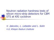 Application of the KRI cyclotron for radiation hardness test of ... - GSI