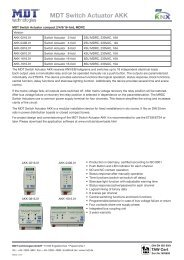 Datasheet MDT Switch Actuators compact AKK MDRC