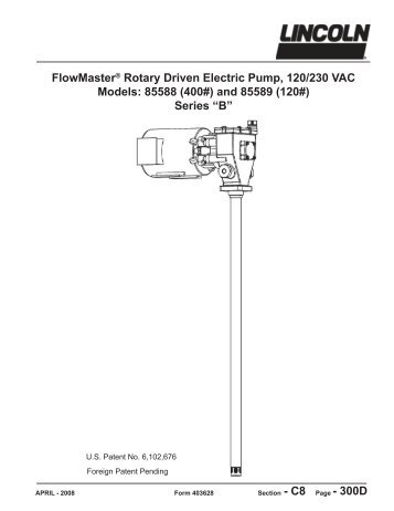 FlowMaster™ Rotary Driven Electric Pump - Lincoln Industrial