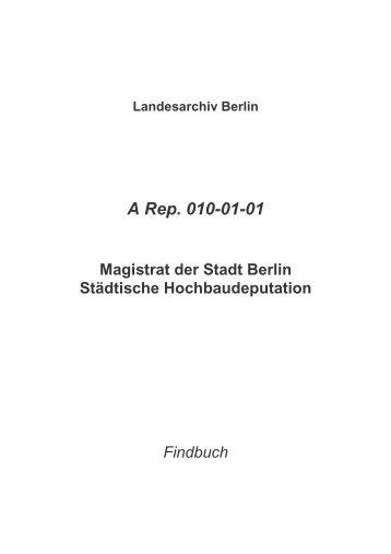 A Rep. 010-01-01 - Landesarchiv Berlin