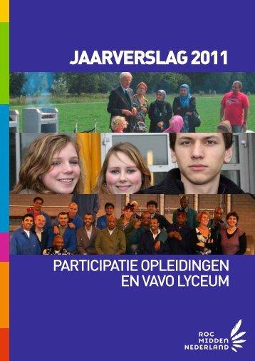 jaarverslag 2011 - Participatieopleidingen - ROC Midden Nederland