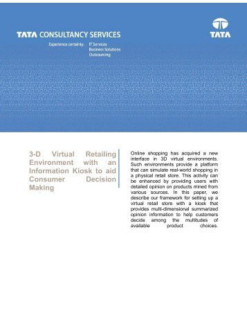 3-D Virtual Retailing Environment with an Information Kiosk to aid ...
