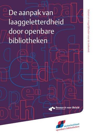 De aanpak van laaggeletterdheid door openbare ... - Taalwerkt.nl