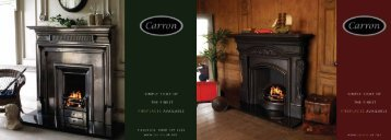 Carron Fireplaces Brochure - Victorian Fireplaces
