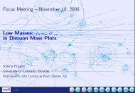 Focus Meeting – November 18, 2006 Low Masses: ρ, ω, φ ... in ...