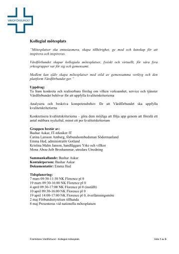 Kollegial mötesplats - Vårdförbundet