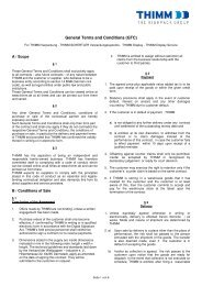 General Terms and Conditions (GTC) - THIMM