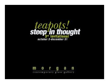 Steep in Thought Catalog - Morgan Contemporary Glass Gallery