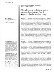 The effects of splinting on the spastic hem i pleg is hand - Canadian ...