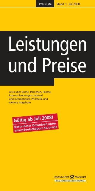 Leistungen und Preise - Index of