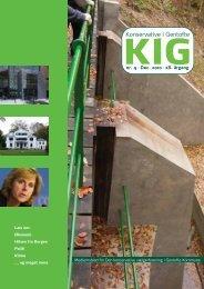 KIG nr. 4. 2010 - Nye folk i den Konservative ledelse Læs mere